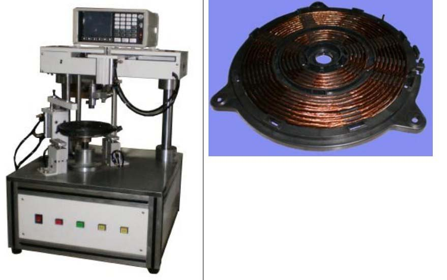 Coil Induction Cooker ~ Induction cooker winding machine motor machines and mcb